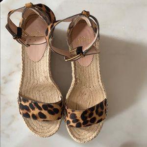 JCrew platform sandal pony hair cheetah print